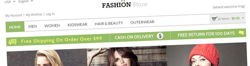 fashion store theme magento