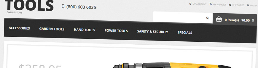 tools theme magento