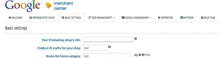 modulo seo google merchant center