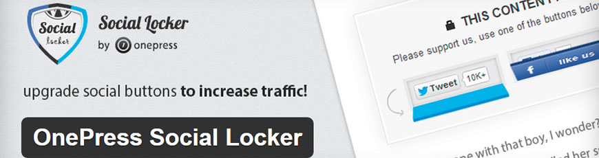 plugin OnePress Social Locker